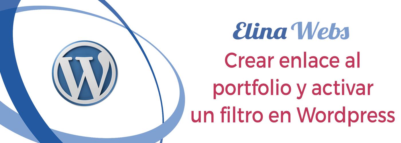Crear enlace al portfolio y activar filtro Wordpress